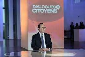 François Hollande no canal  France 2, a 14 de Abril de 2016