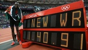 David Rudisha set a world record when he won gold in the 800 metres at the 2012 Olympics in London.