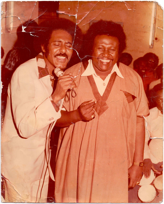 Sudanese artists Abdel El Aziz Al Mubarak and Kamal Tarbas whose popularity stretched way beyond Sudan's borders