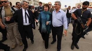 European Union foreign policy Chief Catherine Ashton during her visit to Benghazi