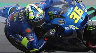 Reigning champion Joan Mir struggled in the heat and high wind during practice for the Doha MotoGP on Saturday