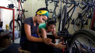 Một tiệm sửa chữa và cho thuê xe đạp tại La Habana (Cuba), ngày 04/08/2018.