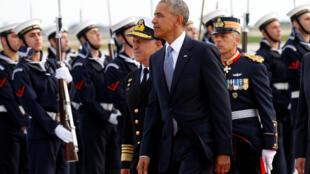ورود اوباما به آتن. سهشنبه ١۵ نوامبر ٢٠۱۶