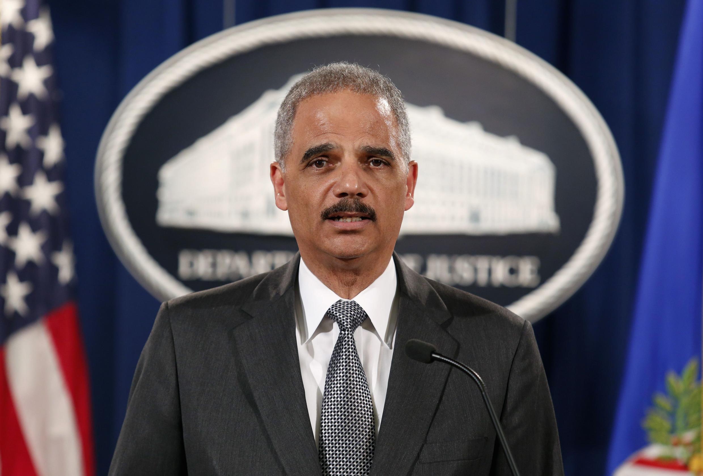Le ministre américain de la Justice, Eric Holder, lors de la conférence de presse le 3 décembre 2014, à Washington, aux Etats-Unis.