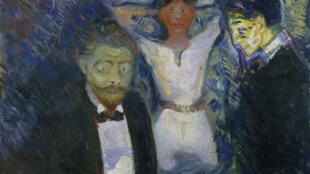 Jalousie, 1913 huile sur toile, 85 x 130 cm Städel Museum, Francfort, dépôt d'une collection privée. Edvard Munch