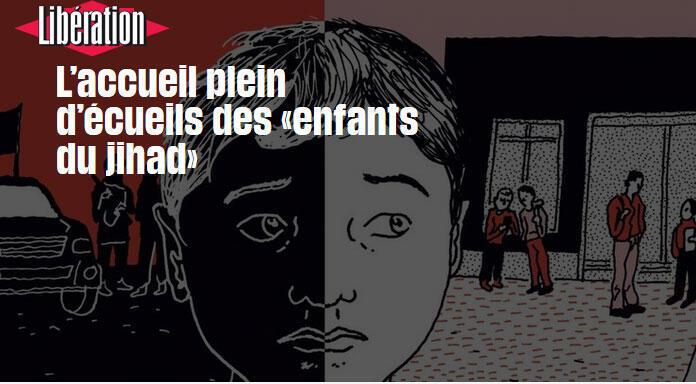 A polêmica questão da volta dos filhos de jihadistas franceses ao país é destaque no jornal Libération desta sexta-feira (16).