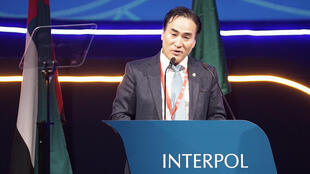 Ông Kim Jong-yang tại Đại hội đồng Interpol lần thứ 87 tại Dubai. Ảnh do Cảnh sát Hàn Quốc cung cấp ngày 21/11/2018.