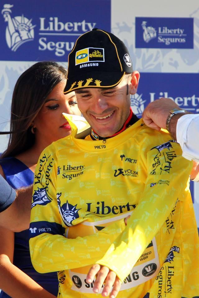 A amarela conservada na 5a etapa pelo espanhol Sergio Pardilla da sul-africana MTN-Qhubeka