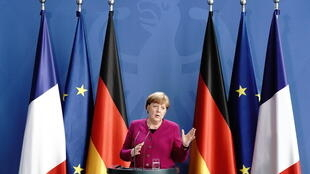 German Chancellor Angela Merkel, along with French President Emmanuel Macron, laid out plans for a massive European fund to fight the economic fallout from the coronavirus