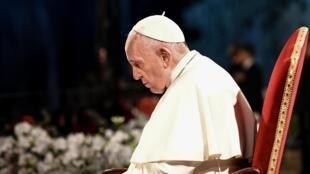O Papa Francisco presidiu ontem à Via Sacra