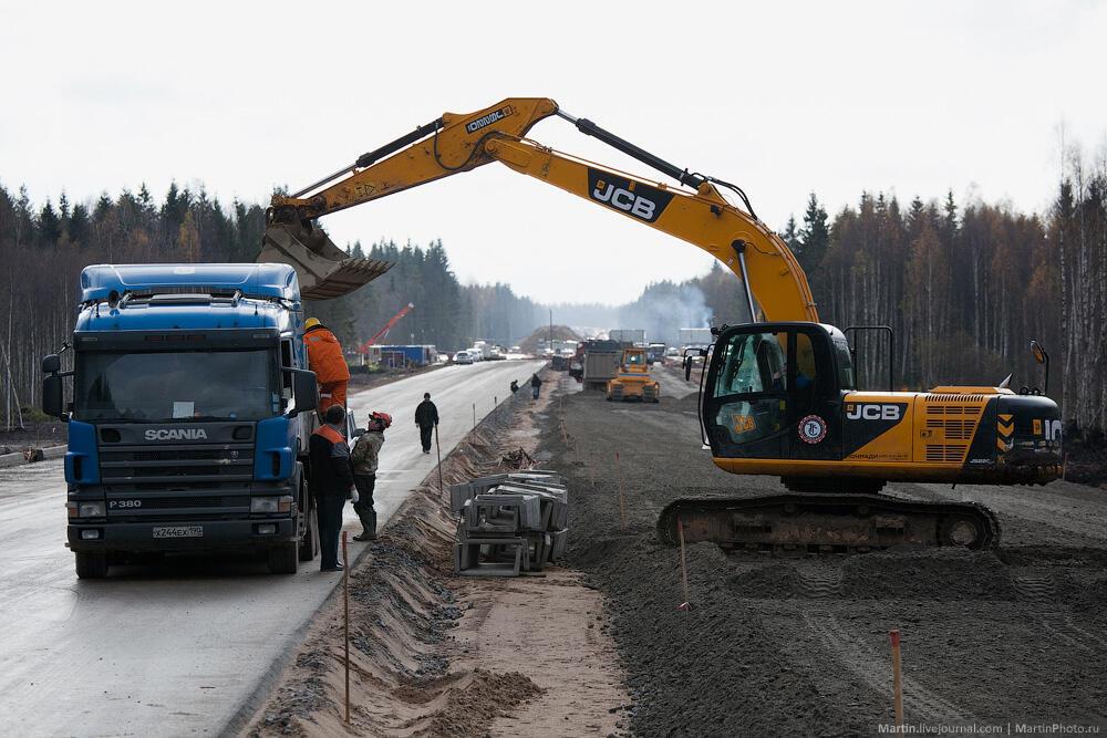Строительство автострады М11 Москва - Санкт-Петербург