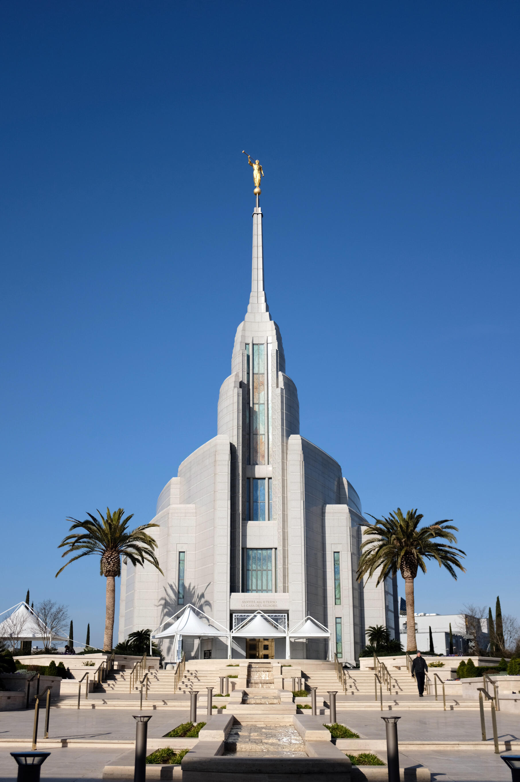 View of the new Mormon temple in Rome