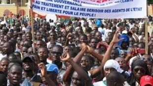 Manifestation contre la vie chère, le samedi 20 juillet 2013, à Ouagadougou.