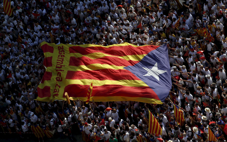 Manifestación proindependencia en Barcelona, el pasado 11 de septiembre de 2015.