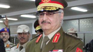 Khalifa Haftar, kwamandan sojin gabashin Libya