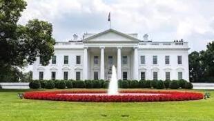 图为美国总统府白宫