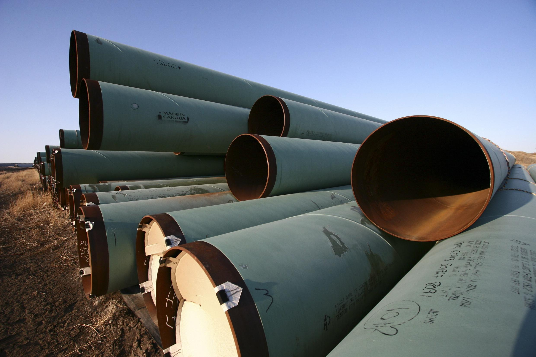 Tubos de oleoducto en el estado de Dakota del Norte.