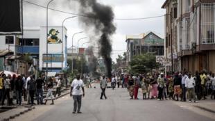 Marches anti-Kabila réprimées, à Kinshasa, en RDC, le dimanche 21 janvier 2018.