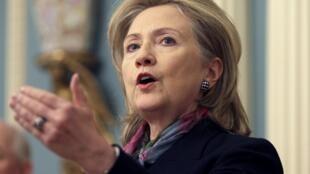 La secrétaire d'Etat américaine Hillary Clinton.