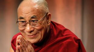 图为西藏宗教精神领袖达赖喇嘛