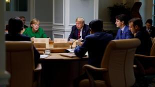 Waziri mkuu wa Canada, Justin Trudeau na viongozi wengine wa G7