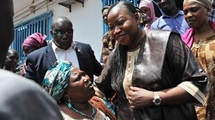 Fatou Bensouda, la procureure de la Cour pénale internationale, lors de son passage à Conakry.