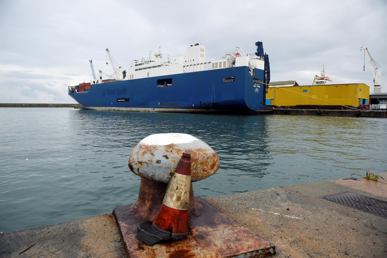 Le cargo saoudien «Bahri Yanbu» vu dans le port de Gênes, en Italie, le 20 mai 2019.