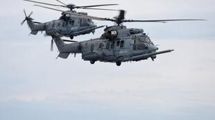 Airbus's Caracal helicopters on an exercise this year