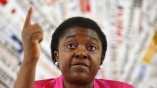 Cécile Kyenge, la ministre italienne de l'Intégration, le 19 juin 2013.