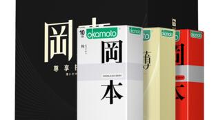 圖為日本超薄岡本產品圖