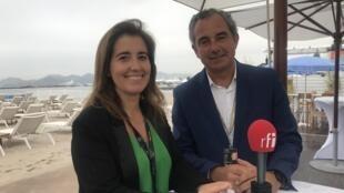 Ana Mendes Godinho e Luís Chaby Vaz em Cannes a 18 de Maio de 2019.