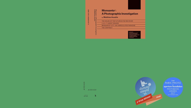 Bìa cuốn sách Monsanto : Cuộc điều tra bằng hình ảnh, NXB Actes Sud, 2017.