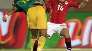 Apre lutte entre Sud-Africains et Egyptiens en éliminatoires de la CAN 2012.