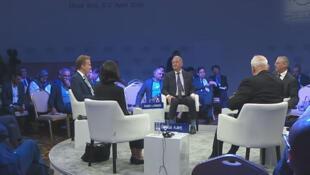 La «solution à deux Etats» a été évoquée au Forum économique mondial à Amman, ce dimanche 7 avril, lors d'une table ronde.