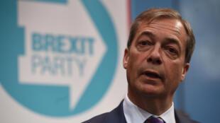 Nigel Farage a lancé la campagne du Brexit Party pour les élections européennes, à Londres, le 12 avril 2019.