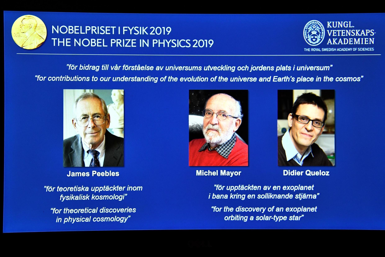 Vencedores do Prémio nobel da Física 8/10/2019