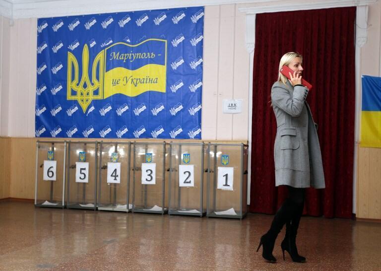 Избирательный участок в Мариуполе, 25 октября 2015