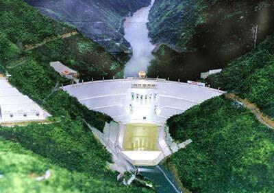 湄公河上的一座水坝