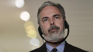 O ministro das Relações Exteriores do Brasil, Antonio Patriota, em reuniao do Palácio do Itamaraty em Brasília.