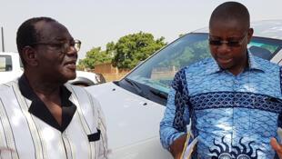 A gauche, Paul Taryam Ilboudo, maire de la commune de Loumbila.