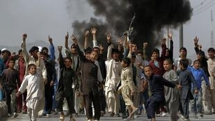 Manifestación en Kabul, este 17 de septiembre de 2012.