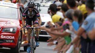 17ème étape du Tour de France, 161 kilomètres entre Digne-les-Bains et  Pra-Loup dans les Alpes, le 22 juillet 2015.