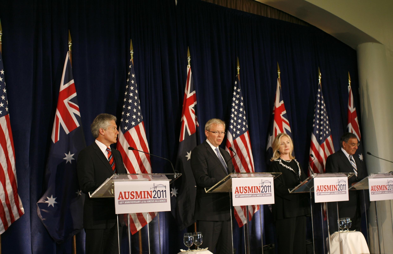 Bộ trưởng Quốc phòng và Ngoại giao Mỹ - Úc tại Đối thoại thường niên, San Francisco, 15/09/2011