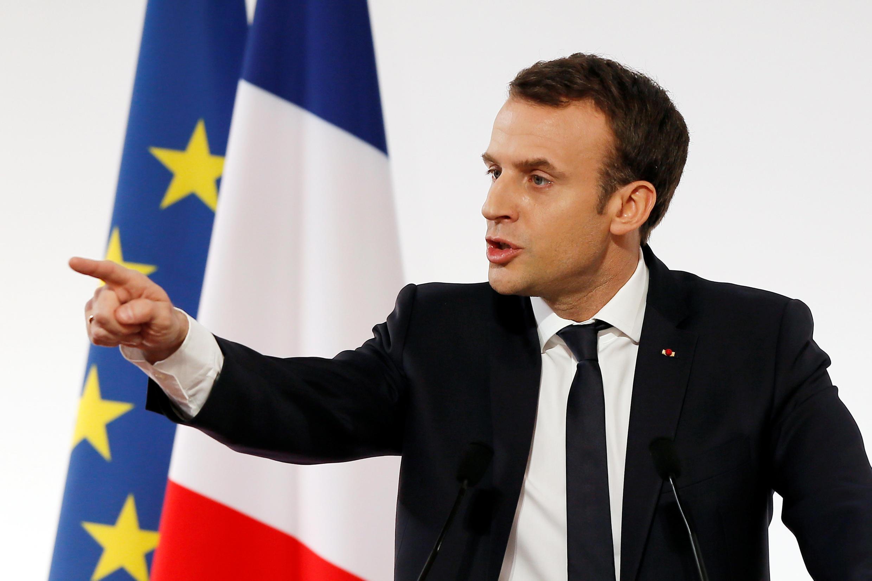 Presidente francês, Emmanuel Macron, recebe no fim da tarde no Eliseu, PM de Israel