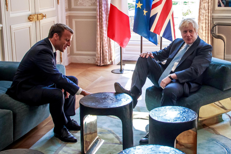 Shugaba Emmanuel Macron na Faransa da Firaministan Birtaniya Boris Johnson.