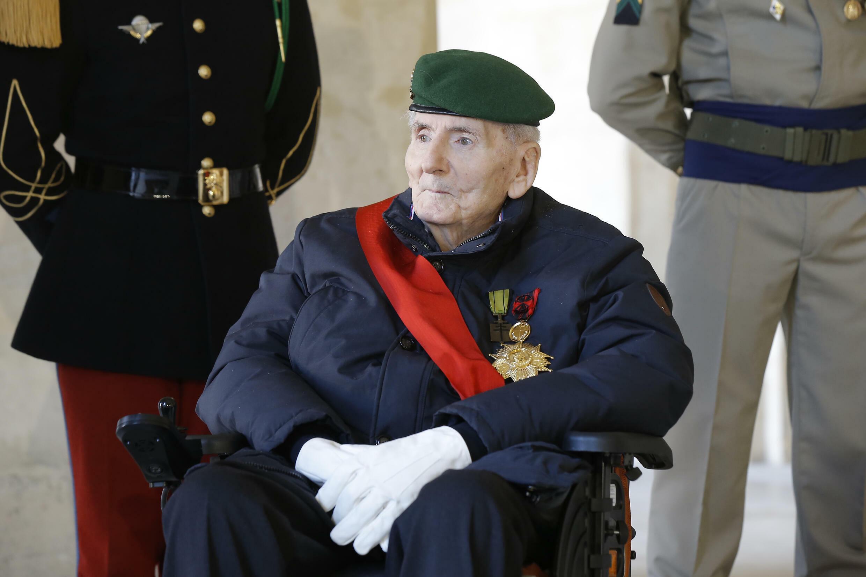 Юбер Жермен, ветеран Второй мировой войны и кавалер ордена Освобождения, 26 ноября 2020 года.