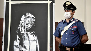 The stolen artwork by Banksy was found in Italy earlier this month