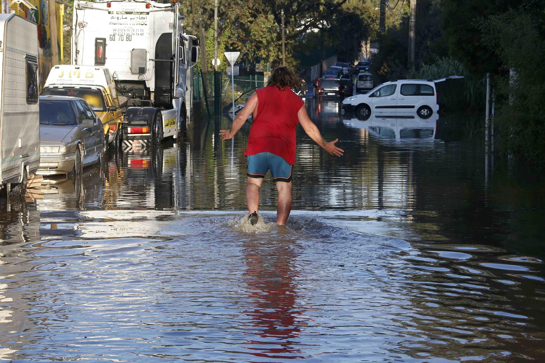 Localidade de Biot, arredores de Nice, no sul da França atingido por inundações 3 e 4 de outubro.