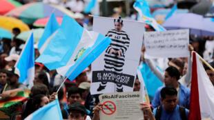Manifestation contre le président Morales, au Guatemala le 20 septembre 2018.