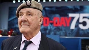 Cựu chiến binh Bertie Billet trong buổi lễ kỉ niệm 75 năm quân đồng minh đổ bộ lên Normandie, Portsmouth, Anh, ngày 05/06/2019.